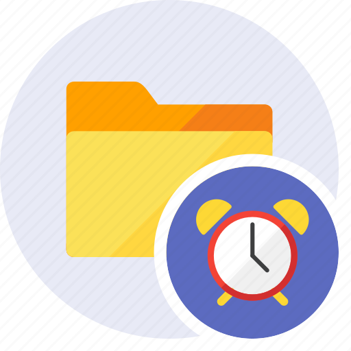 alarm, clock, folder, history, schedule, time, timer icon
