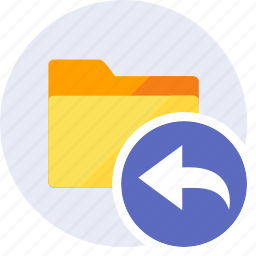 arrow, arrows, back, direction, folder, move, undo icon