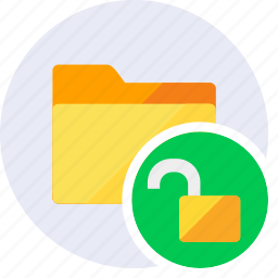 folder, key, password, protection, secure, security, unlock icon