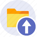 arrow, arrows, folder, import, move, up, upload icon