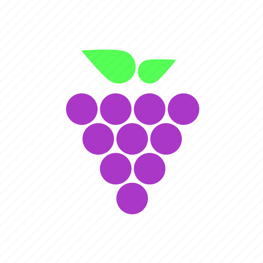 fruit, grapes, purple icon