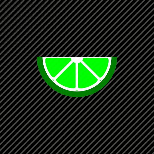 citrus, fruit, lime, slice icon