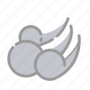 cloud, forecast, icon, rain, weather, wind, windy icon