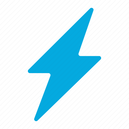 Blue thunder, level, power, thunder, up, battery, lightning icon - Download on Iconfinder