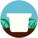 flowerpot, garden, gardening, nature, plant, pot, soil icon