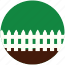 garden, gardening, grass, hedge, nature, palisade, rampart icon