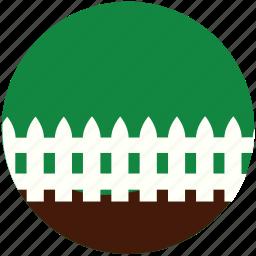 garden, gardening, grass, hedge, nature, palisade, rampart icon