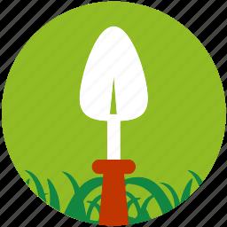 garden, gardening, grass, hoe, spoon, spud, weeding tool icon