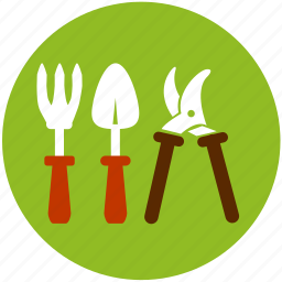 cultivator, garden, gardening, grass, scissors, spoon, spud icon