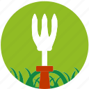 cultivator, garden, gardening, grass, nature, scissors, spud icon
