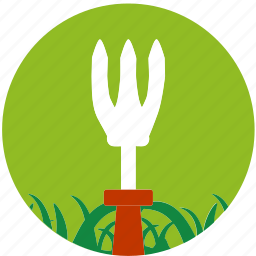 cultivator, garden, gardening, grass, nature, scissors, spud icon