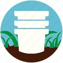 garden, gardening, grass, nature, plant, pot, soil icon