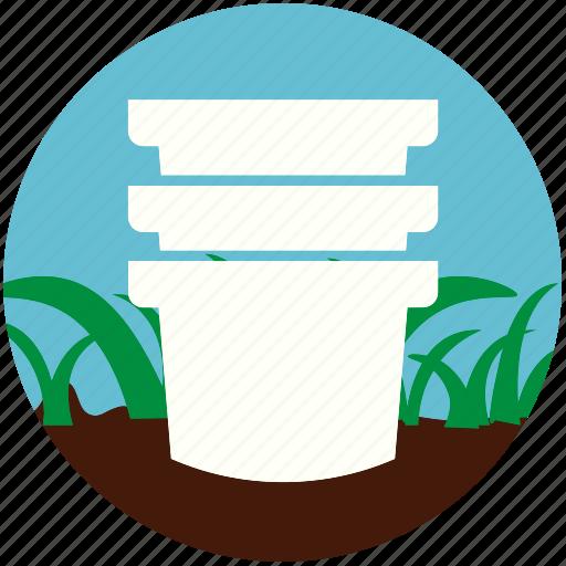 garden, gardening, grass, nature, plant, pot, soil icon