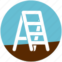 fixed ladder, footstep, garden, gardening, ladder, stairway, steel sadder icon