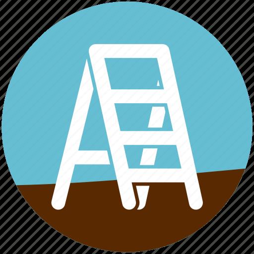 fixed ladder, footstep, garden, gardening, ladder, stairway, steel sadder icon