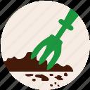 cultivator, garden, gardening, grass, nature, plant, spud icon