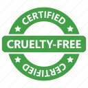 animal testing, certified, cruelty, free, stamp, vegan, vegetarian icon
