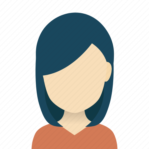 american, avatars, european, hairstyles, heads, ladies, long hair icon