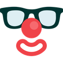 avatar, clown, face, glasses, human, man, mask icon