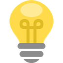 bulb, light, electric, energy, idea, lamp, thought icon