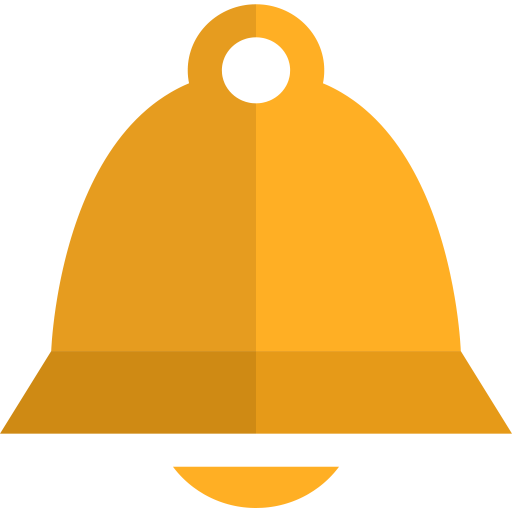 alert, bell, church, gold, warning icon