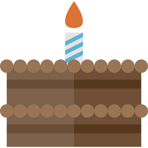 birthday, cake, celebration, chocolate, cream, cupcake, dessert icon