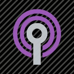 beacon, broadcast, coverage, radio, signal, transmit, wave, wifi icon