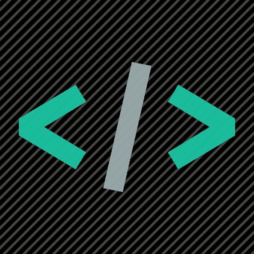 close, code, dev, embed, tag icon
