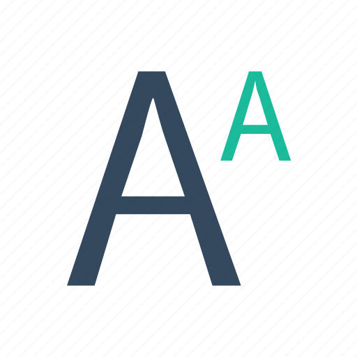 font, sans, superscript, type icon