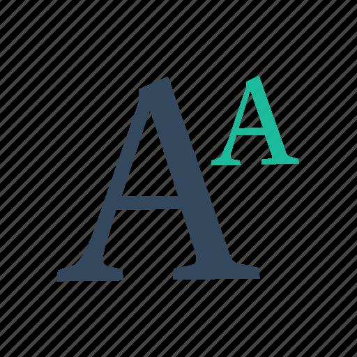font, superscript, type icon