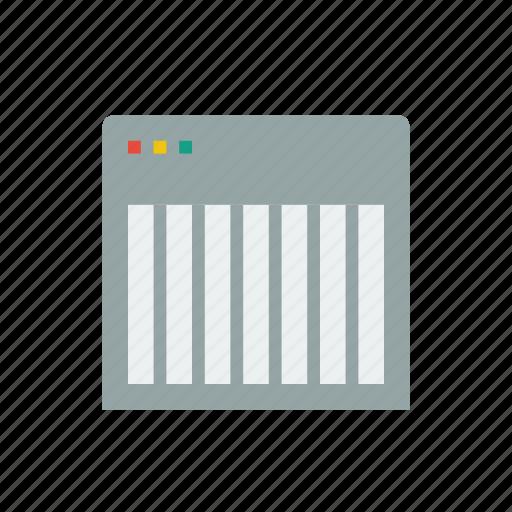 browser, design, dev, grid, system icon
