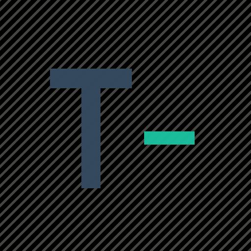 decrease, font, minus, resize, smaller, text, type icon