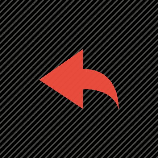 arrow, unshare icon
