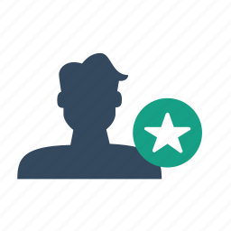 star, user icon