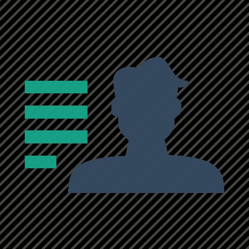 list, user, userlist icon
