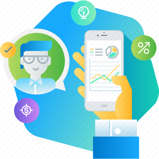 app, business, crm, market, network, research icon