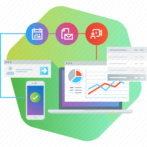 app, business, communication, management, project, report, sync icon