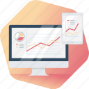 analysis, business, chart, planning, report, research, responsive icon