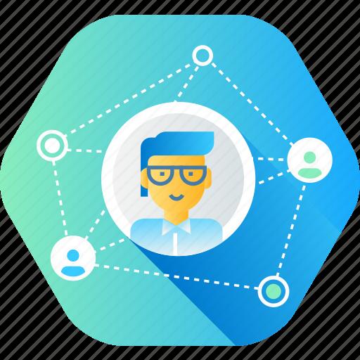 communication, community, media, network, networking, social icon