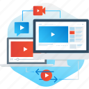 advertising, internet, marketing, share, streaming, video icon