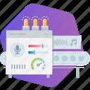 app, development, machine, media, music, production, speach icon