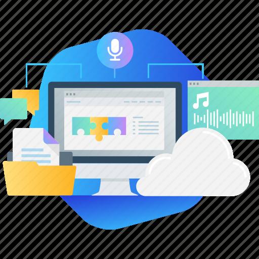 app, audio, book, course, education, speech, training icon