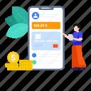 app, banking, banking app, banking technology, ebanking, mobile banking, secure banking icon