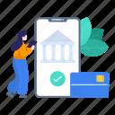 banking, banking app, banking technology, ebanking, mobile banking, secure banking, technology icon
