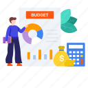 accounting, auditing, budget, budget accounting, calculation, financial estimate