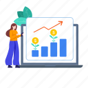 business, data visualization, financial management, growth, growth diagram, investment growth, statistics icon