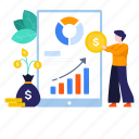 business, business growth, business investment, data analytics, financial growth, infographic, investment icon