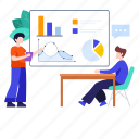 business, business class, business management, business presentation, business training, graphical presentation, training icon