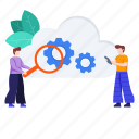 cloud, cloud configuration, cloud maintenance, cloud management, cloud services, management icon
