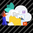 cloud, cloud hosting, cloud server, cloud storage, data hosting, hosting server, storage icon